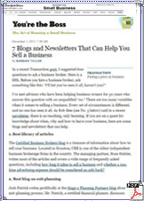 New York Times Blog Review (December 1, 2011)
